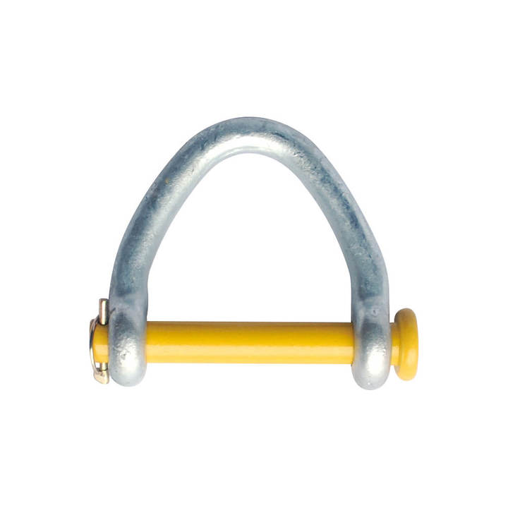 2 Web Shackle Round Pin Hot Galv  for Lifting Sling & Strap