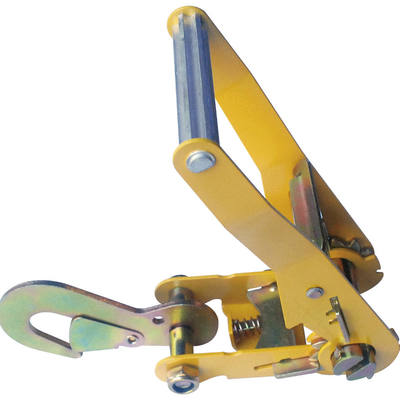 "2"" Ratchet Buckle Long Wide Handle with Snap Hook 4000 LBS"