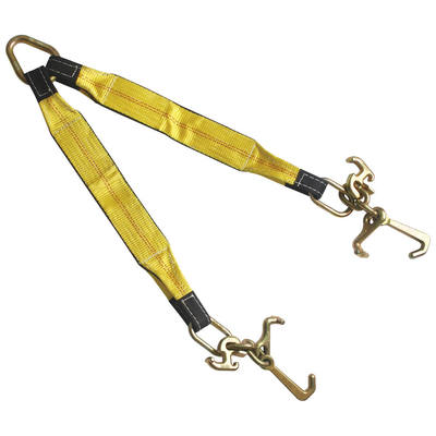 "3""x30"" Tow Strap V Bridle with RTJ Cluster Hook 2 Leg 5400 LBS"
