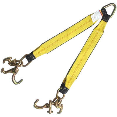 "3""x24"" Tow Strap V Bridle with RT Compact J Hook 5400 LBS"