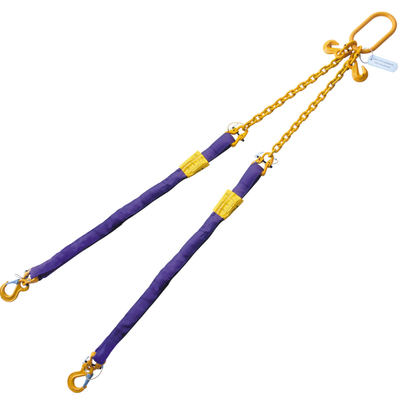 Purple 6' Round Bridle Sling Adjustable w/ Sling Hook 2 Leg