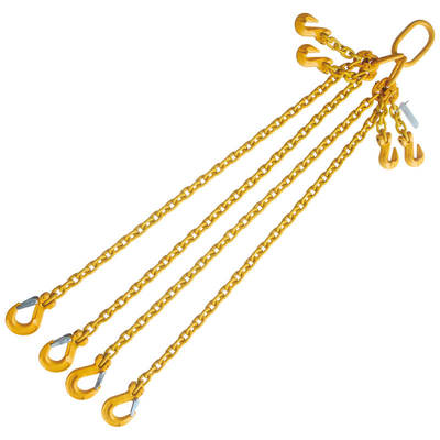 "3/8"" x 8' Chain Sling 4 Legs G80 Adjustable with Sling Hook"
