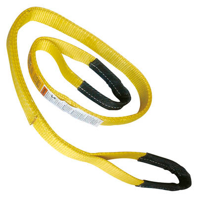 "1"" x 8' Polyester Lifting Sling Tow Strap Eye & Eye 2 Ply"