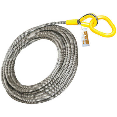 "Roll Off Cable for Container Truck 6x25 Steel Core 1"" x 82'"