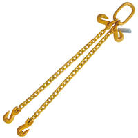 "5/16"" x 4' G80 Chain Sling Grab Hook with Hook Adjuster 2 Leg"
