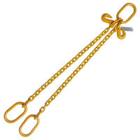 "5/16"" x 4' G80 Chain Sling with Master Link Hook Adjuster 2 Leg"
