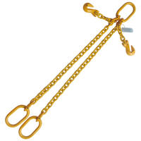 "5/16""x 4' G80 Adjustable Chain Sling with Master Link Double Leg"