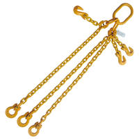 "5/16"" x 4' G80 Adjustable Chain Sling with Omega Link 3 Leg"