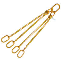 "5/16"" x 4' G80 Chain Sling with Master Link Quadruple Leg"