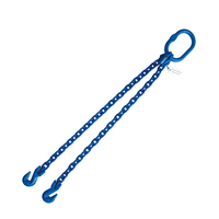 "5/16"" x 4' G100 Chain Sling with Grab Hook Double Leg"