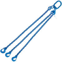 "5/16"" x 4' G100 Chain Sling with Sling Hook Triple Leg"