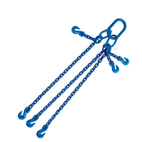 "5/16""x4' G100 Adjustable Chain Sling with Grab Hook Triple Leg"