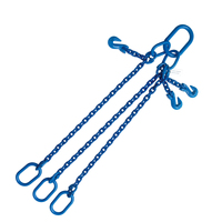 "5/16""x4' G100 Adjustable Chain Sling with Master Link Triple Leg"