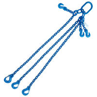 "5/16""x4' G100 Adjustable Chain Sling with Sling Hook Triple Leg"
