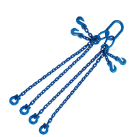 "5/16"" x 4' G100 Adjustable Chain Sling with Omega Link 4 Leg"