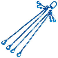 "5/16"" x 6' G100 Adjustable Chain Sling with Sling Hook 4 Leg"