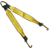"3"" x 24"" Tow Strap V Bridle with Mini J Hook 2 Leg 5400 lbs WLL"