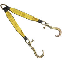 "3 x24"" Tow Strap V Bridle with 8"" J & T Hook 2 Leg 5400LBS"