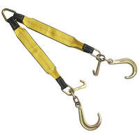 "3""x24"" Tow Strap V Bridle with 8"" J & MJ Hook 2 Leg 5400LBS"