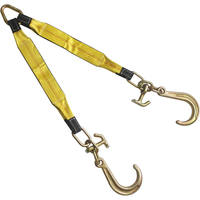 "3""x24"" Tow Strap V Bridle with 8"" J & T-J Hook 2 Leg 5400 LBS"