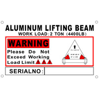 2 Ton Aluminum 4' Spreader Beam / Bar with 4 FT Sling