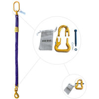 Purple 18' Round Bridle Sling with Swivel Hook 1 Leg