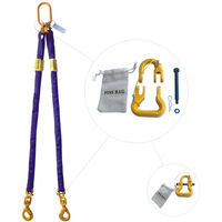Purple 4' Round Bridle Sling with Swivel Hook 2 Leg