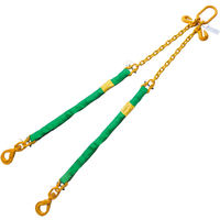 Green 2' Round Bridle Sling Adjustable w/Swivel Hook 2 Leg