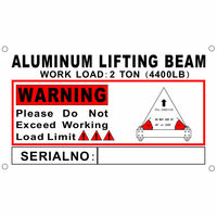 2 Ton Aluminum 6' Spreader Beam / Bar with 6 FT Sling