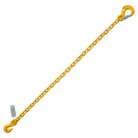 "3/8"" x 5' Chain Sling with Grab Hook and Sling Hook G8"
