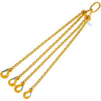 "5/16"" x 4' Lifting Chain Sling 4 Leg G80 with Sling Hook"