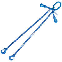 "3/8""x5' G100 Chain Sling with Sling Hook Adjustable Double Leg"