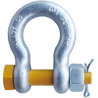 "3/4"" G2140 Grade 80 HDG Alloy Anchor Shackle Clevis Bolt Nut"