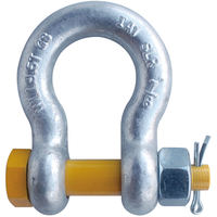"7/8"" G2140 Grade 80 HDG Alloy Anchor Shackle Clevis Bolt Nut"