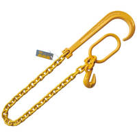 "3/8""x3' Adjustable 15"" J Hook Tow Rollback Wrecker Recover Chain"