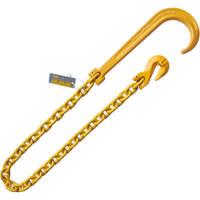 "1/2""x3' 15"" J Hook Grab Hook Tow Rollback Wrecker Recovery Chain"