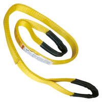 "1"" x 4' Nylon Lifting Sling Lifting Tow Strap Eye & Eye 2 PLY"