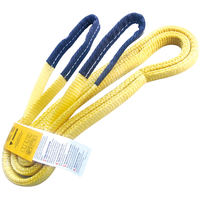 "1"" x 20' Nylon Lifting Sling Lifting Tow Strap Eye & Eye 2 PLY"