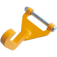 "4"" Container Roll Off Hook Pained Yellow Over Zinc Plated"