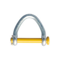 "4"" Web Shackle Round Pin Hot Galv. for Lifting Sling & Strap"
