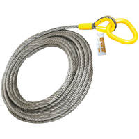 "Roll Off Cable for Container Truck 6x26 Steel Core 7/8"" x 82'"